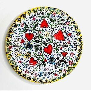 Ceramic Decorative Plate Whimsical Inspirational